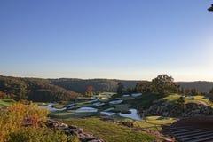 Dessus du terrain de golf de roche Photo libre de droits