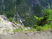 Dessus du veiw de montagne Photos stock
