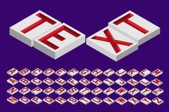 Dessus isométrique gravé de lettres Image libre de droits