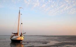 Dessus op de séchage des mudflats de marée photographie stock