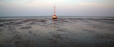 Dessus op de séchage des mudflats de marée photographie stock libre de droits