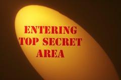 dessus secret de signe Image stock