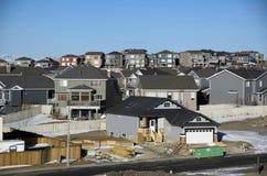 Dessus suburbains de toit Images libres de droits