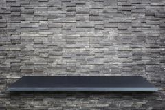 Dessus vide de la table ou du compteur en pierre naturelle d'isolement sur le Ba blanc photos stock