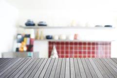 Dessus vide de pièce en bois de table et de cuisine Photo libre de droits