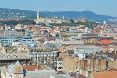 Dessus-vue de Budapest Photos stock