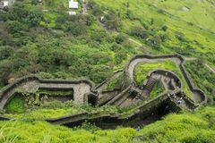 Dessus-vue de fort de lohagad Photographie stock