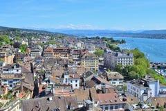 Dessus-vue de Zurich Photo stock