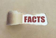 Destapadura de los hechos imagen de archivo libre de regalías