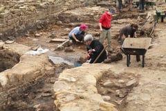Destapadura del pasado romano foto de archivo
