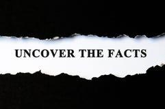 Destape el concepto de los hechos fotos de archivo