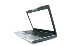 Destape la computadora portátil con el monitor blanco Fotografía de archivo