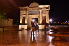 Destellos EN EL Arco del Triunfo Στοκ εικόνες με δικαίωμα ελεύθερης χρήσης
