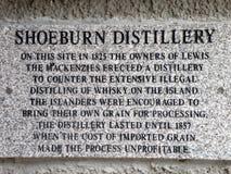 Destilaria, Stornoway, ilha de Lewis Fotografia de Stock Royalty Free