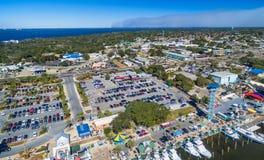 Destin地平线,佛罗里达鸟瞰图在冬天 免版税库存图片