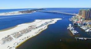 Destin aerial skyline, Florida - USA stock photography