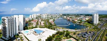 Destin Florida smaragdkust Arkivbilder