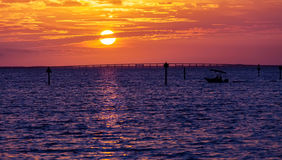 Destin Sunset Royalty Free Stock Photos