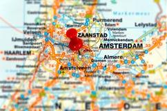 Destinación Amsterdam del recorrido fotografía de archivo libre de regalías