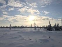 Destinación de la nieve landscape Foto de archivo libre de regalías