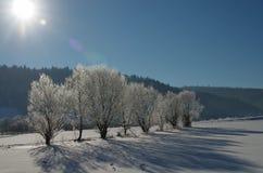 Destinación de la nieve landscape Fotos de archivo libres de regalías