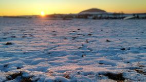 Destinación de la nieve landscape imágenes de archivo libres de regalías