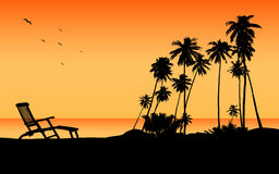 Destinación exótica del recorrido de la playa stock de ilustración