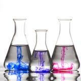 Destinataire de chimie avec la couleur d'encre image libre de droits