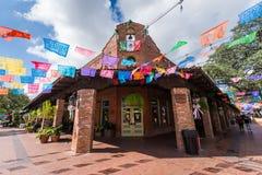 Destinati mexicano del turista del centro comercial de la plaza del mercado histórica fotos de archivo libres de regalías