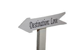 Destinatio: Liefde Royalty-vrije Stock Foto