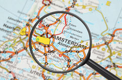 Destination - Amsterdam (loupe) Photographie stock