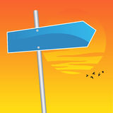 Destination Anywhere. Vector illustration of a blank direction sign Stock Photography