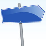Destination Anywhere. Vector illustration of a direction sign Stock Image