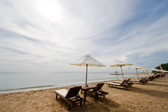 Destination beach Stock Images
