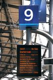 Destination board in Liverpool Railway Station. Stock Images