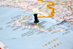 Destination: Corfu, Greece Stock Photo