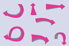 Destination de flèche Image stock