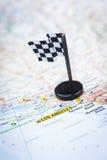 Destination de voie de course Photographie stock libre de droits