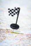 Destination de voie de course Images libres de droits