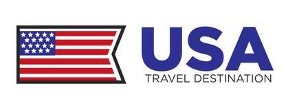 Destination de voyage de pays des Etats-Unis Illustration de Vecteur