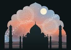 destination dröm- india stock illustrationer