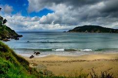 Destination espagnole, Galicie, région du nord-ouest, plage d'Espasante Image stock