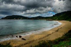 Destination espagnole, Galicie, région du nord-ouest, plage d'Espasante Images stock
