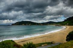 Destination espagnole, Galicie, région du nord-ouest, plage d'Espasante Image libre de droits