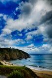 Destination espagnole, Galicie, région du nord-ouest, plage d'Espasante Photo libre de droits