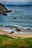 Destination espagnole, Galicie, région du nord-ouest, plage d'Espasante Photographie stock libre de droits