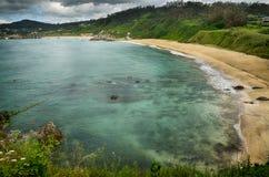 Destination espagnole, Galicie, région du nord-ouest, plage d'Espasante Photos libres de droits