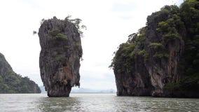 Destination för lopp för James Bond ö berömd i Thailand lager videofilmer