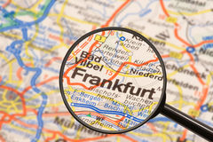 Destination Frankfurt. Travel still life Stock Photos