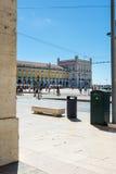 Destination guidée de Lisbonne Portugal de place de Comercio pendant le D photographie stock